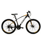 "3 Colors 26"" Mountain Bike 21 Speed Bicycle with Disc Brakes Suspension Fork"