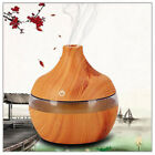 300ml Ultrasonic Home Color-changing Wood Grain LED Aroma Diffuser Humidifier