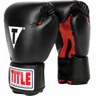 Внешний вид - Title Boxing Classic Hook and Loop Vinyl Training Boxing Gloves - Black/Red
