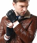 Mens Motorcycle Fingerless  Leather Lining Half Finger Driving Cycling Gloves