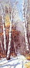 Pure Snow Covered Forest & Trail HP Design Needlepoint Canvas #343
