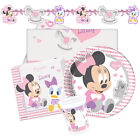Disney INFANT MINNIE Mouse Birthday Party Range Tableware Balloons Banners {1C}