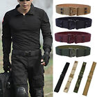 Men Outdoor Hiking Sports Adjustable Canvas Waistband Army Military Buckle Belt