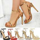 Womens Ladies Stiletto High Heels Sandals Barely There Party Platform Shoes Size