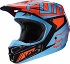 FOX RACING YOUTH V1 FALCON BLUE ORANGE BLACK HELMET 17399-016 MX ATV BMX