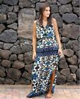 GOREOUS ZARA LONG MAXI ETHNIC PRINT DRESS  SIZE M   8 10  12 MUST HAVE