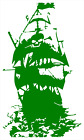 Pirate Ship High Quality Dicut Vinyl Decal BIG 8.5 x 5 Inch! FAST SHIP 12 colors