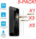 5Pcs Premium Real Screen Protector Tempered Glass Film For iPhone X 8 7 6S Plus