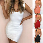 New Women Backless V-Neck Sexy Micro Mini Costume Bodycon Evening Party Dress