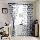NEW Loop Curtain Scarf Deco Scarf Home Living Room Voile Flower Curtains Decor
