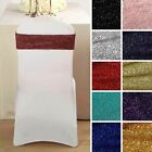 Metallic Spandex CHAIR SASHES Bows Ties Wedding Reception Decorations Dinner