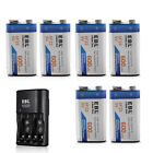 600mAh 9V Lithium-ion Battery / Dual Charger for NiMH Li-ion 9 Volt Batteries