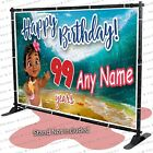 Moana Birthday Party Vinyl Backdrop Banner Personalized Water MADE IN USA kid
