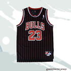 Michael Jordan Chicago Bulls #23 Retro Throwback Basketball Jersey Black Stripes on eBay