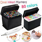 80 Colors Touch Five Dual Headed Artist Sketch Markers Pen Set For Animation USA