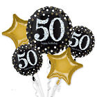 50th GOLD Celebration Birthday Party  Balloons Tableware Decorations Supplies 50