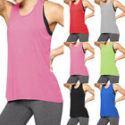 Fashion Womens Workout Tank Tops T-shirt Sport Gym Clothes F