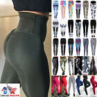 US Women Sexy Push Up Yoga Pants Sport Gym Skinny Leggings F