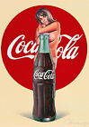Art Print Poster / Canvas Coca Cola  Pin Up Gir $25.39  on eBay