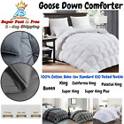 Luxury 1200 TC Siberian Goose Down Comforter 100% Egyptian Cotton Cover Gray image