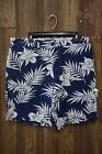 MENS GRAYERS BLUE W WHITE FLOWERS FLAT ZIP FLY SHORTS SIZE 36 NEW W TAGS $88