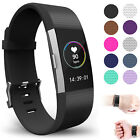 LARGE L Size Replacement Wrist Band w/ Clasp For Fitbit Charge 2 Bracelet