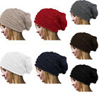 Women Outdoor Warm Beanie Knitted Woolen Crochet Ski Hat Long Baggy Slouchy Cap