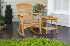 Outdoor Rocking Chair Backyard Patio Garden Wicker Furniture Tortuga Plantation