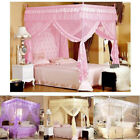 4 Corner Post Bed Canopy Mosquito Net Full Queen King Size Netting Bedding New image