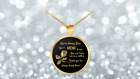 Like a Mom Round Gold Pendant Necklace Unbiological Mom Gift
