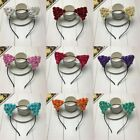 Lady Paper Flowers Lovely Cat Ears Animal Party Hair Hoop Hairband Headband New