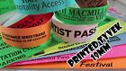 Printed Tyvek Wristbands order: 1000 to 5000 (19mm) events, parties, festival