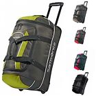Duffel Bag With Wheeled Polyester U-zipper Main Pocket With Locking Zippers New