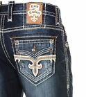 NWT New Mens Rock Revival Straight Jeans Josef 29 30 31 32 3