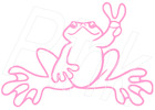 PEACE SIGN FROG VINYL GRAPHIC CAR DECAL / STICKER ~ 13 COLORS CHOICES