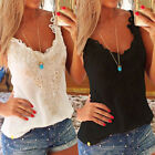 Fashion Women Lace Crop Tops V Neck Camisole Sleeveless Tank Beach Blouse Shirt
