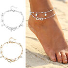 Women Anklets Barefoot Crochet Leg Chain Sandals Foot Jewelry Pearls Bracelets