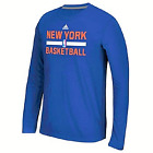 New York Knicks NBA Adidas Men's Blue Long Sleeve Ultimate T-Shirt on eBay