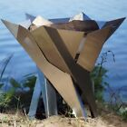 Curonian Phoenix Blossom Stainless Steel Wood Burning Fire Column