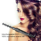 6 In 1 Hair Curling Iron Ceramic Curler Roller Hair Interchangeable With Glove
