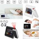 Projection Weather Music Alarm Clock LCD Snooze Color Display Backlight US STOCK