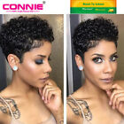 Connie 100% Remy Human Hair WIG AFRO Full Cap WIG Brazilian Short Curly Style