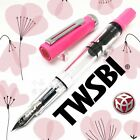 TWSBI ECO Pink Rose Clear Piston Fountain Pen