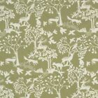 Sage Green Cotton Oilcloth Wipe clean Tablecloth PVC Dotty Floral Nautical