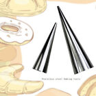 2/3Pcs DIY Stainless Steel Baking Cones Spiral Baked Croissants Pastry Cake Mold