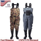 Fly Fish Waders Breathable Waterproof  Chest Wader With Stocking Foot + Shoes
