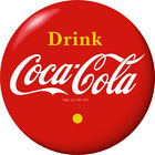 Drink Coca-Cola Red Disc Removable Wall Decal Yellow 1930s Style