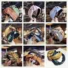 Summer Knot Cloth Broadside Pressure Bow Wide Headband Hair Headdress Head Hoop