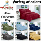 8 Pcs Comforter Set HypoAllergenic King Full Queen Dobby Stripe Bed Bedding New image