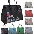 New Faux Leather Floral Decoration Ladies Fashion Tote Bag Handbag